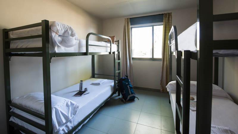Chambre partagée de 4 lits